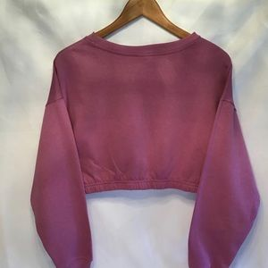 Vintage Tops - Cropped I Want My MTV Lilac Infamous Space Break